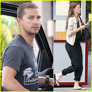 Shia LaBeouf: Gas Tank Pumper Before Grocery Run with Mia Goth!