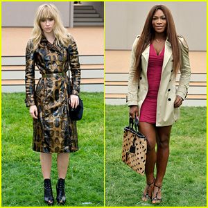 Suki Waterhouse & Serena Williams: Burberry Prorsum Show!