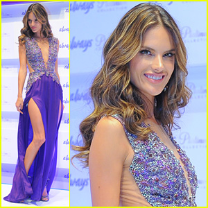 Alessandra Ambrosio: Always Platinum Collection Launch!