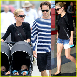Anna Paquin & Stephen Moyer: Sunday Stroll with the Twins!