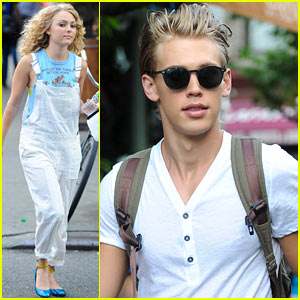 AnnaSophia Robb & Austin Butler: 'Carrie Diaries' with Lindsey Gort!