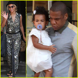 Beyonce & Jay-Z: Family Lunch with Blue Ivy Carter!
