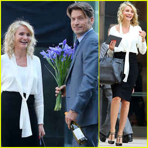 Cameron Diaz & Nikolaj Coster-Waldau: Flowers for 'The Other Woman'
