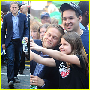 Charlie Hunnam: 'Pacific Rim' NYC Promotion!