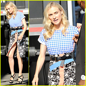 Diane Kruger: 'The Bridge' Promotion on 'Jimmy Kimmel Live'