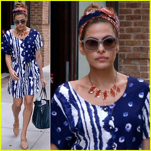 Eva Mendes: Red, White & Blue Chic!