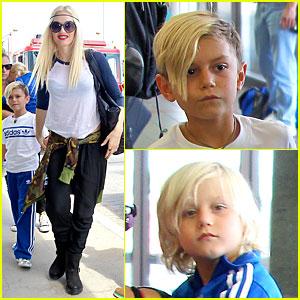 Gwen Stefani Camouflages LAX Departure!