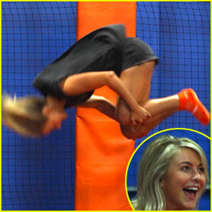 Julianne Hough Somersaults Through the Air at Sky Zone!