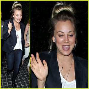 Kaley Cuoco Leaves Henry Cavill at Home for Girl's Night Out!