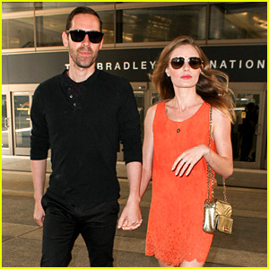Kate Bosworth & Michael Polish Land at LAX on July 4th