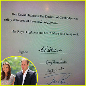 Kate Middleton: Royal Baby Official Announcement (Video)