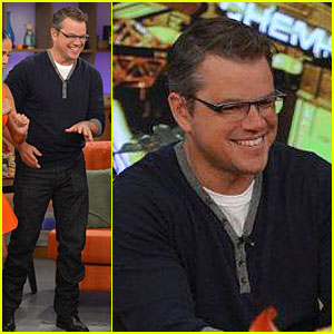 Matt Damon: 'Elysium' Promotion on 'Despierta America'!