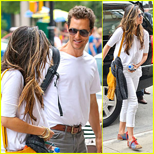 Matthew McConaughey Loves to Smile For Camila Alves!