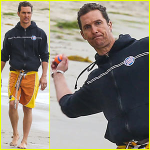Matthew McConaughey Exercises Dogs on Son Levi's Birthday!