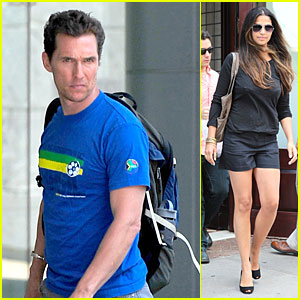 Matthew McConaughey & Camila Alves: Separate State Outings!