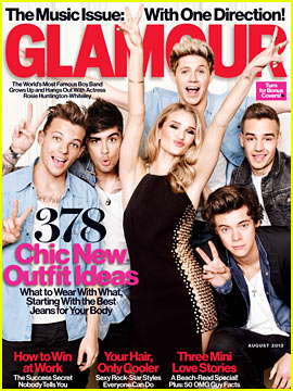 One Direction & Rosie Huntington-Whiteley Cover 'Glamour' - More Pics!