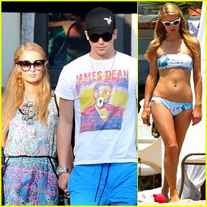 Paris Hilton Blue Bikini