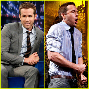 Ryan Reynolds Gets Soaking Wet in Jimmy Fallon's Water War!