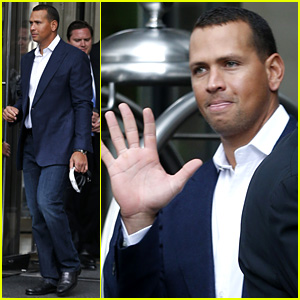 Alex Rodriguez Steps Out After Record MLB Suspension