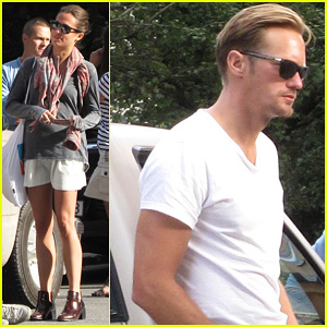 Alexander Skarsgard: Stockholm Lunch with Alicia Vikander!