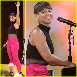 Alicia Keys Performs for Good Morning America's Concert Series!