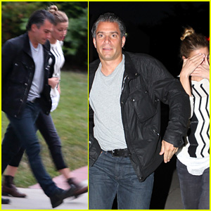 Amber Heard Grabs Dinner with Talent Agent Christian Carino