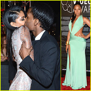 A$AP Rocky & Chanel Iman Kiss at MTV VMAs 2013!