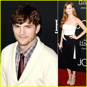 Ashton Kutcher & Ahna O'Reilly: 'Jobs' L.A. Screening!