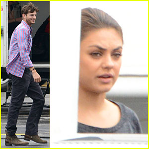 Ashton Kutcher Visits Mila Kunis on 'Jupiter Rising' Set!