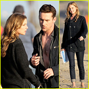 Emily VanCamp: 'Revenge' Set with Chest Baring Barry Sloane!
