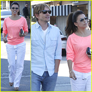 Eva Longoria Catches Up with Ken Paves Over Lunch!