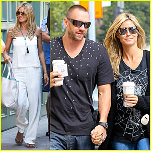 Heidi Klum & Martin Kirsten Hold Hands Before Party!