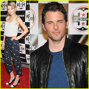 James Marsden & Jessica Stam: G-Shock 'Shock The World' Party!