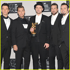 Justin Timberlake & 'NSYNC: VMAs Press Room!