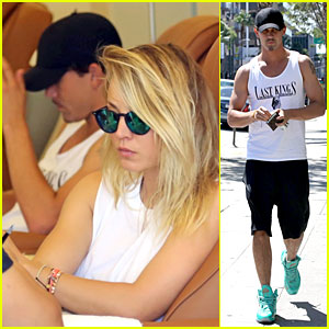 Kaley Cuoco & Ryan Sweeting: Couples' Pedicure Session!