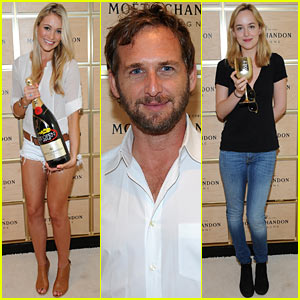 Katrina Bowden & Josh Lucas: Moet Suite at the U.S. Open!
