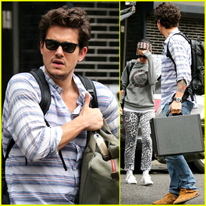 Katy Perry Boards John Mayer's Tour Bus for Long Island Stop