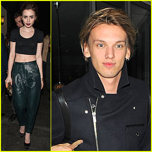 Lily Collins Brings Toned Abs to Ivy Club with Jamie Campbell Bower!