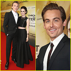 Lily Collins & Jamie Campbell Bower: 'City of Bones' Berlin Premiere!