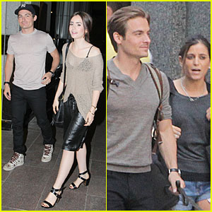 Lily Collins: Sheer Dinner with Kevin Zegers & Jaime Feld!