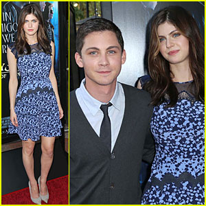 Logan Lerman & Alexandra Daddario: 'Percy Jackson' L.A. Screening!