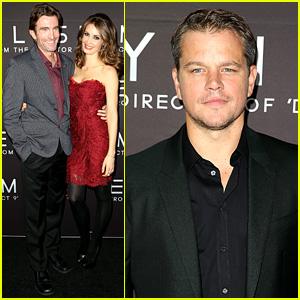 Matt Damon & Sharlto Copley: 'Elysium' Sydney Premiere!