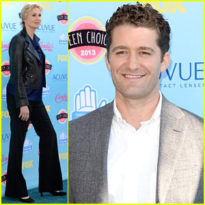 Matthew Morrison & Jane Lynch - Teen Choice Awards 2013 Red Carpet