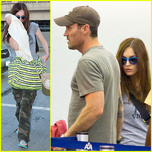Megan Fox & Brian Austin Green Fly Away After Baby News!