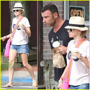 Naomi Watts & Liev Schreiber Stop for Coffee with Bob!