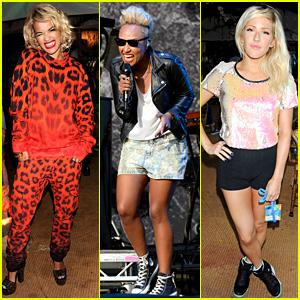Rita Ora, Emeli Sande, & Ellie Goulding: V Festival Ladies!