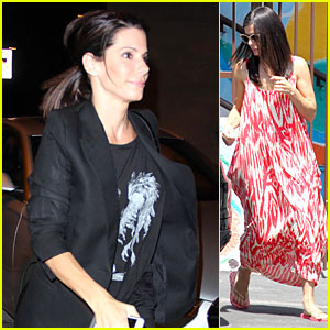Sandra Bullock Wraps Week with Craig's Restaurant Dinner!