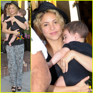 Shakira Goes Shopping with Baby Milan