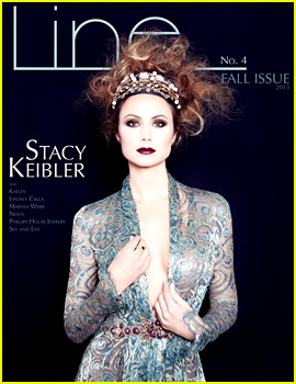 Stacy Keibler Covers 'Line Magazine' Fall 2013 Issue