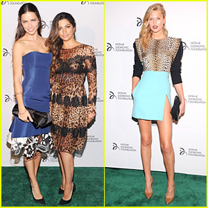 Adriana Lima & Toni Garrn: Novak Djokovic Foundation Dinner!